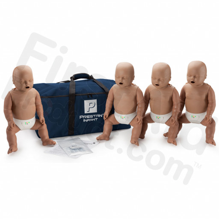 Prestan Infant CPR / AED Manikin 4-Pack with Monitor - Dark Skin