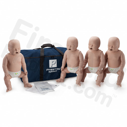 Prestan Infant CPR / AED Manikin 4-Pack with Monitor - Medium Skin