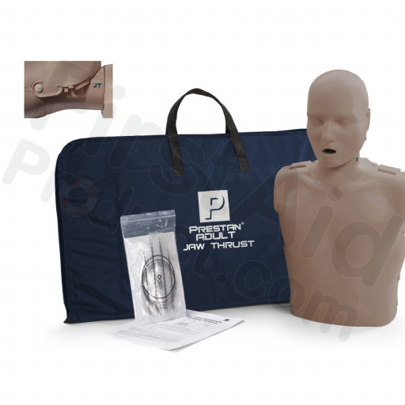 Prestan Adult Jaw Thrust CPR Manikin w/o Monitor - Dark Skin