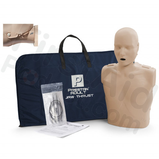 Prestan Adult Jaw Thrust CPR Manikin w/o Monitor - Medium Skin