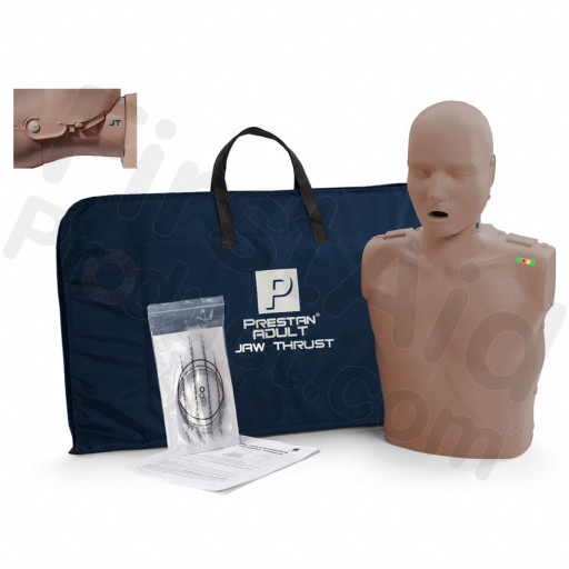 Prestan Adult Jaw Thrust CPR Manikin w/ Monitor - Dark Skin