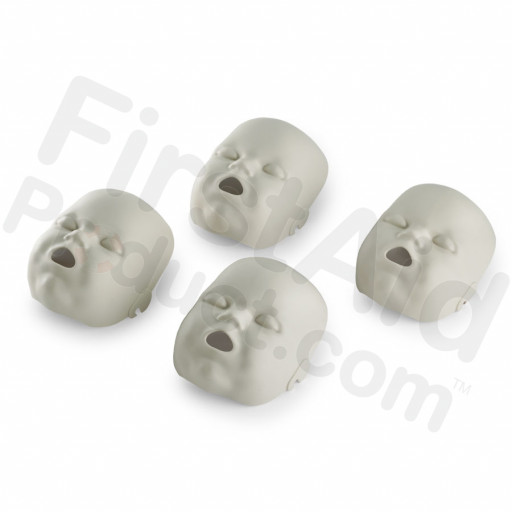 Light Skin Replacement Faces for the Prestan Infant Manikin - 4 Pack