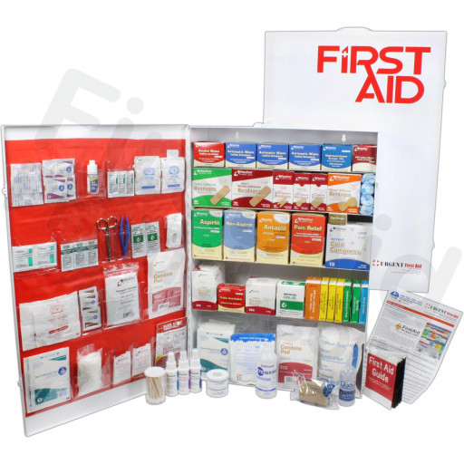 5 Shelf Industrial ANSI A+ First Aid Station with Door Pockets