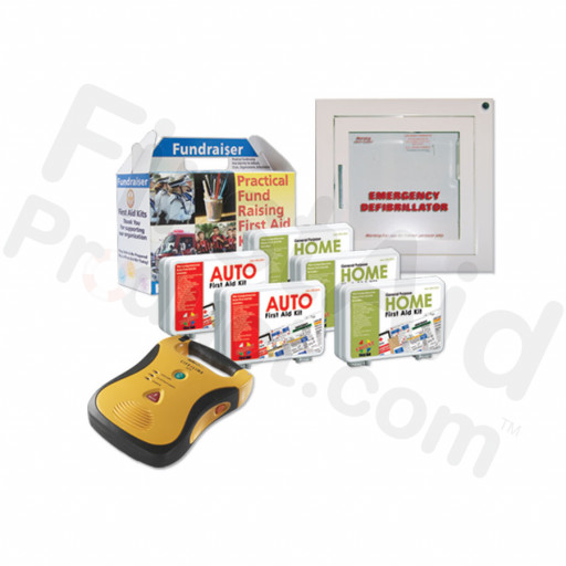 Fundraiser Plan D2: Mixed Fundraiser Kit Pack with a FREE Defibtech Lifeline 7 Year AED & Accessories!