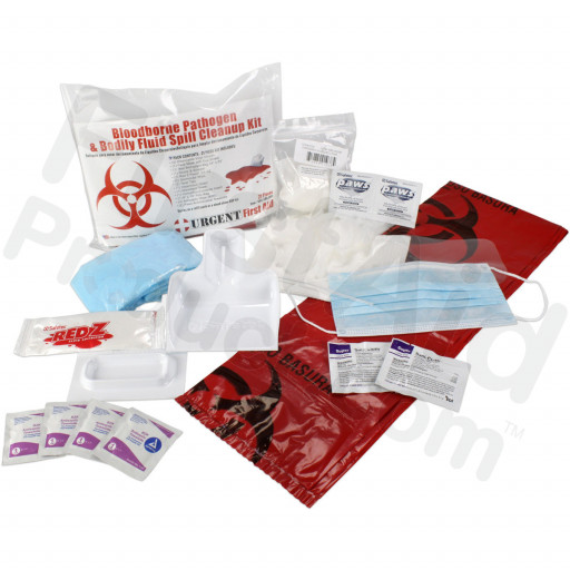 21 Piece Bodily Fluid Clean Up Pack / Bloodborne Pathogen Spill Kit