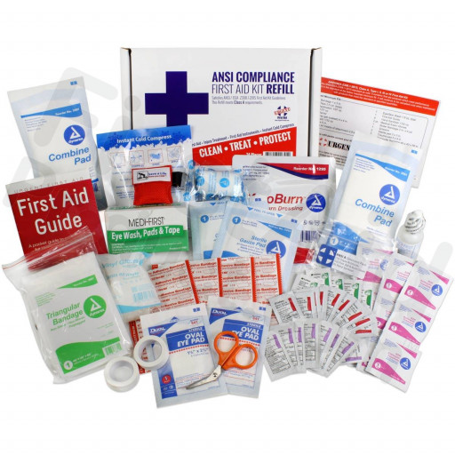 Bulk First Aid Kit Refill, 73 Pieces, ANSI A, 25 Person