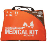 The Adventure Medical Bighorn Sportsman Kit features supplies like QuikClot, trauma pads, petrolatum gauze, and triangular bandages treat the most frequently sustained hunting/fishing injuries