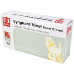 Powder Free Vinyl Exam Gloves - Extra Large, 100/Bx