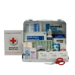 25 Person First Aid Kit, ANSI A,  Metal Case