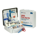 50 Person First Aid Kit, ANSI A+,  Metal Case