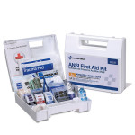25 Person First Aid Kit, ANSI A+, Plastic Case with Dividers