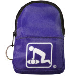 CPR Purple Beltloop Keychain Backpack with Faceshield, Gloves, and Cleansing Wipes