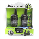 Midland Walkie Talkie Radios (Pair) - 24 Mile - 22 Ch