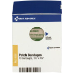 "1.5"" x 1.5"" Fabric Patch Bandages, 10 each"