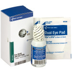 Eye Care Kit, ½ oz. Eyewash and 2 Oval Eye Pads, 1 each