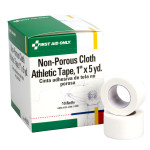 "Athletic Tape, Non-Porous Cloth 1"" x 5 yd. - 10 per box"