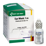 Eye Wash, 1 oz., plastic bottle - 12 per box
