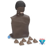 Sanitary CPARLENE Brand Basic Torso with Molded Hair - Dark Skin