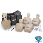 CPR Prompt Brand 5-Pack Adult/Child Training Manikin - Tan
