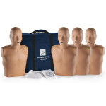 Prestan Adult Dark Skin CPR-AED Training Manikin with CPR Monitor - 4 Pack