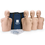 Prestan Adult Medium Skin CPR-AED Training Manikin with CPR Monitor - 4 Pack