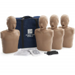 Prestan Child CPR Manikin w/o Monitor - 4 Pack - Dark Skin