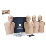 Prestan Adult Jaw Thrust CPR-AED Training Manikin without CPR Monitor - 4 Pack - Medium Skin