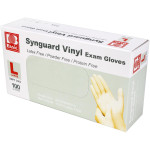Powder Free Vinyl Exam Gloves - Large, 100/Bx