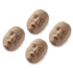 Dark Skin Replacement Faces for the Prestan Adult Manikin - 4 Pack