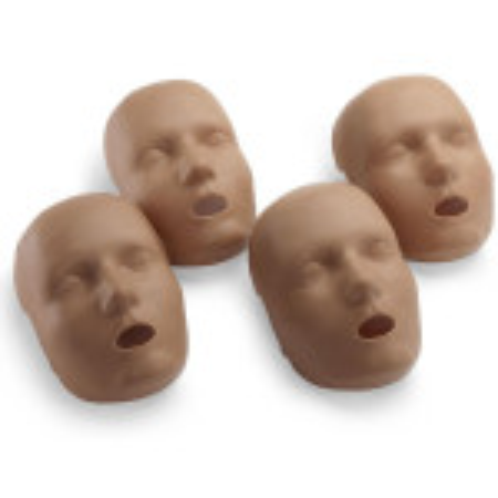 Face skin replacements for the PRESTAN Professional Child Manikin, 4-Pack, Dark Skin