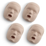Medium Skin Replacement Faces for the Prestan Child Manikin - 4 Pack