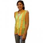 Safety Vest-Lime Green w/Reflective Tape
