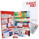 4 Shelf Industrial ANSI B+ First Aid Station with Door Pockets