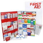 5 Shelf Industrial ANSI B+ First Aid Station with Door Pockets