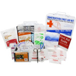 Bilingual OSHA Contractors First Aid Kit for Job Sites up to 25 People – Gasketed Metal, 180 pieces