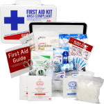 Bulk First Aid Kit, Metal, 74 Pieces, ANSI A, 25 Person