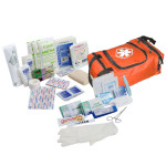 80 Piece First Responder Kit / Jump Bag - Orange