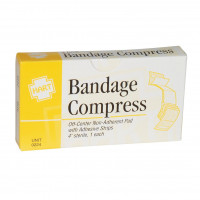 "4"" Bandage Compress, Off Center, Sterile, 1 per box"