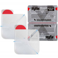 "Hyfin Vent Chest Seal, 6"" x 6"", Twin Pack"