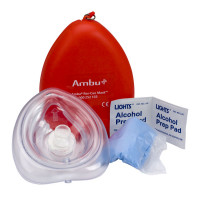 Ambu Res-Cue Key CPR Pocket Mask Kit, Plastic Case
