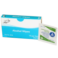 Alcohol Wipes – 10 Per Unit