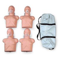 Simulaids Economy Adult Sani-Manikin (4 pk.) with Carry Bag