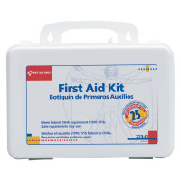 25 Person - Bulk First Aid Kit with Gasket - 107 Pieces - Plastic Case - Botiquin de Primeros Auxilios 25 personas