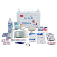 25 Person Bulk First Aid Kit with Rescue Breather - Botiquin de Primeros Auxilios 25 personas