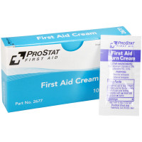 First Aid Burn Cream, 0.9gm, 10 packets per box