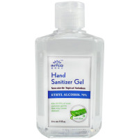 4 oz. Hand Sanitizer, 70% Isopropyl Alcohol, Clear Bottle