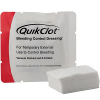 "QuikClot Bleeding Control Dressing, 3"" x 4yd z-folded"
