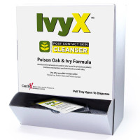 Ivy X Post-Contact Poison Oak & Ivy Cleanser, Wallmount Dispenser Box, 50 per box