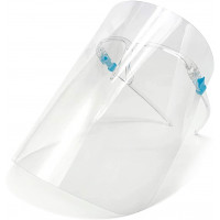 Protective Face Shields With Glasses, Anti-Fog, Clear, 5-Pack