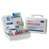 25 Person First Aid Kit, ANSI A,  Plastic Case